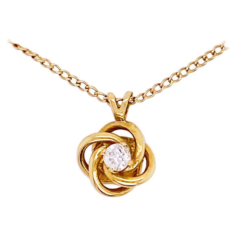 Love Knot Diamond Necklace