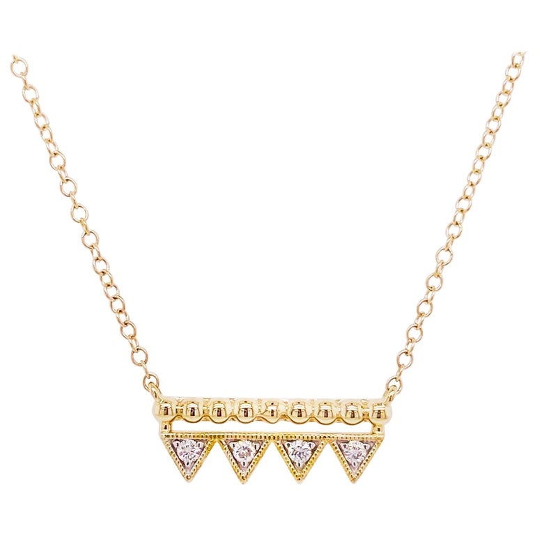 Diamond Triangle Bar Necklace