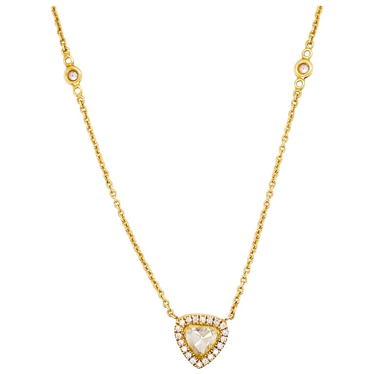 Fancy Yellow Diamond Custom Pendant & Diamonds By the Yard Necklace