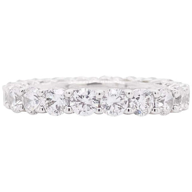 Round Diamond 14k White Gold Eternity Band Ring