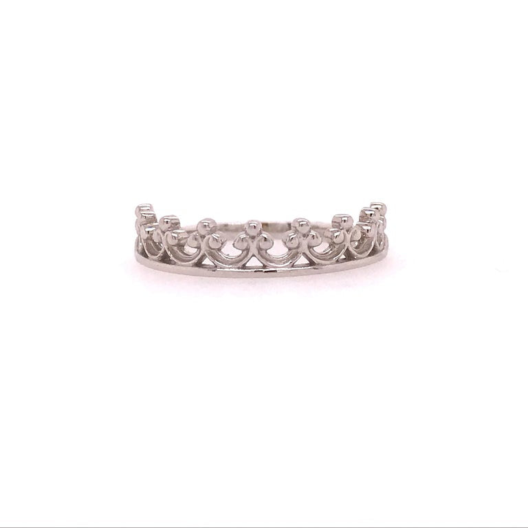 Renaissance Crown Band Stackable Ring