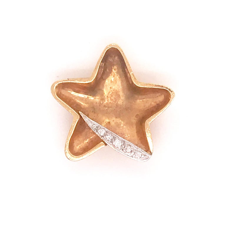 Diamond Star Slide Pendant Necklace
