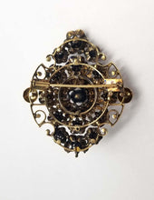 Antique CIRCA 1600 Victorian Brooch with .58 Carat of Rose Cut Diamonds in Gold Estate Piece