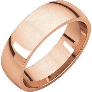 Classic Men's Wedding Band (High Polish) in 14k Gold