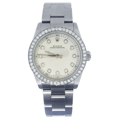 Diamond Bezel-Rolex Oyster Ladies Watch