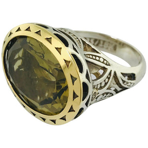 Tacori Olive Quartz Statement Ring