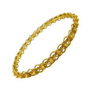 Vintage 22 Karat Yellow Gold Bangle Bracelet Estate
