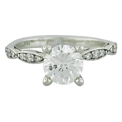 Tacori GIA Certified Round Diamond White Gold Ring