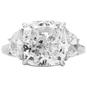 Certified 7.01 Carat Diamond Platinum Ring