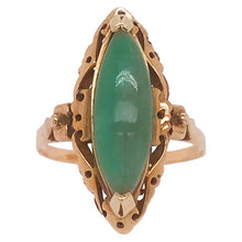 Genuine Jade Marquise Estate Ring