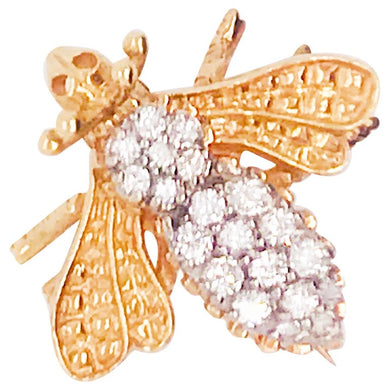 Diamond Honey Bee Brooch