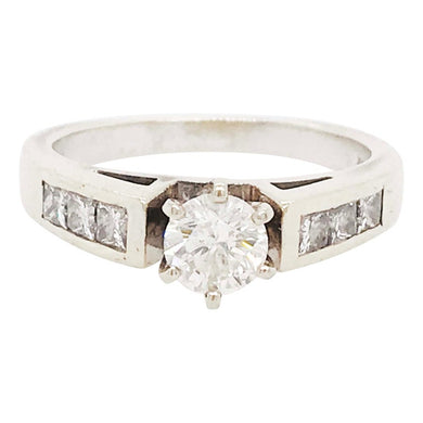 Diamond Six Prong Cathedral Setting