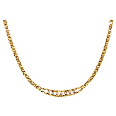 Round Diamond Custom Chain Necklace