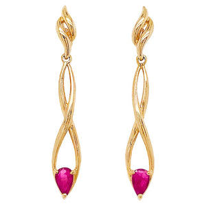 Ruby Infinity Long Earring Drops