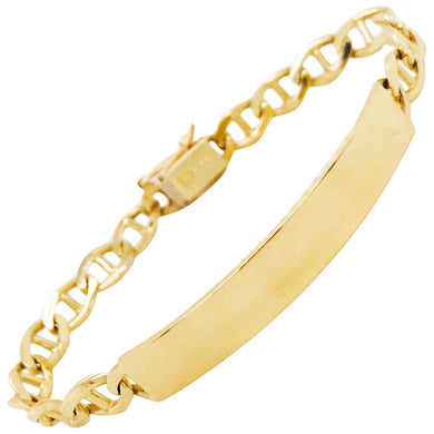 Engravable ID Bracelet in Gold