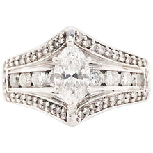 1.80 ct Marquise Diamond Engagement Ring, 14k Gold, Size 5-9