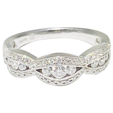 Diamond Tapering Band - Anniversary or Wedding Ring