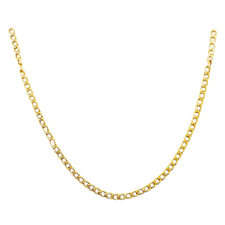 Large Cable Chain Long 14 Karat Yellow Gold
