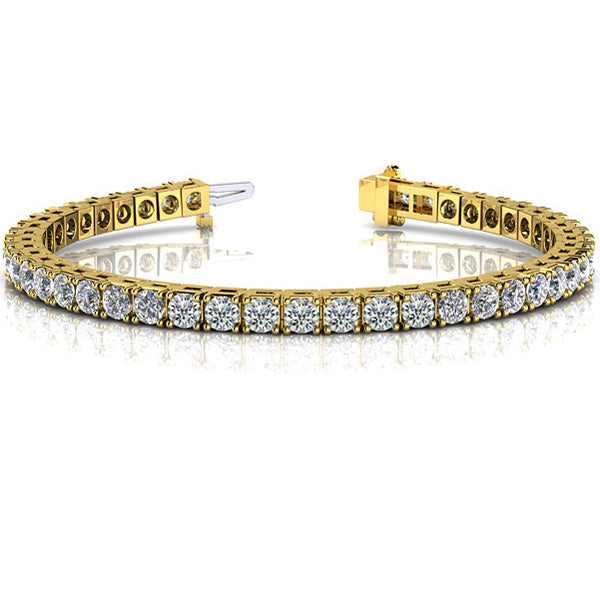 14k Gold Diamond Four Prong Tennis Bracelet
