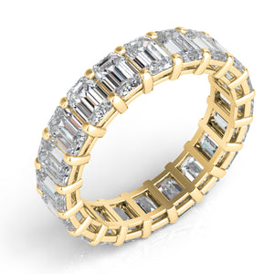 14k Gold Emerald Cut Diamond Eternity Band