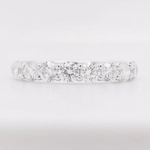 Diamond Half Eternity Band 18k White Gold Ring