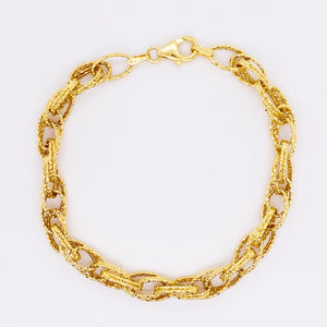 14 Karat Gold Diamond Cut Sparkle Bracelet