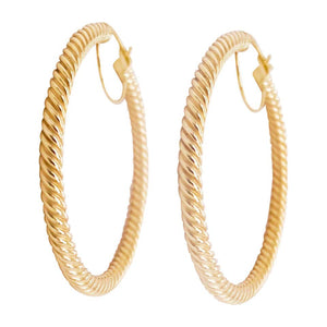 14 Karat Gold Twisted Hoop Earrings