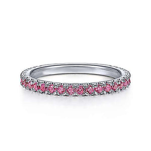 Genuine Ruby Gemstone 3/4 Band