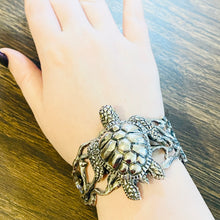 Sterling Silver Sea Turtle Bracelet Cuff