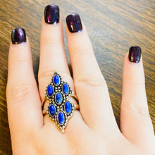 Sterling Silver Lapis Lazuli Statement Ring