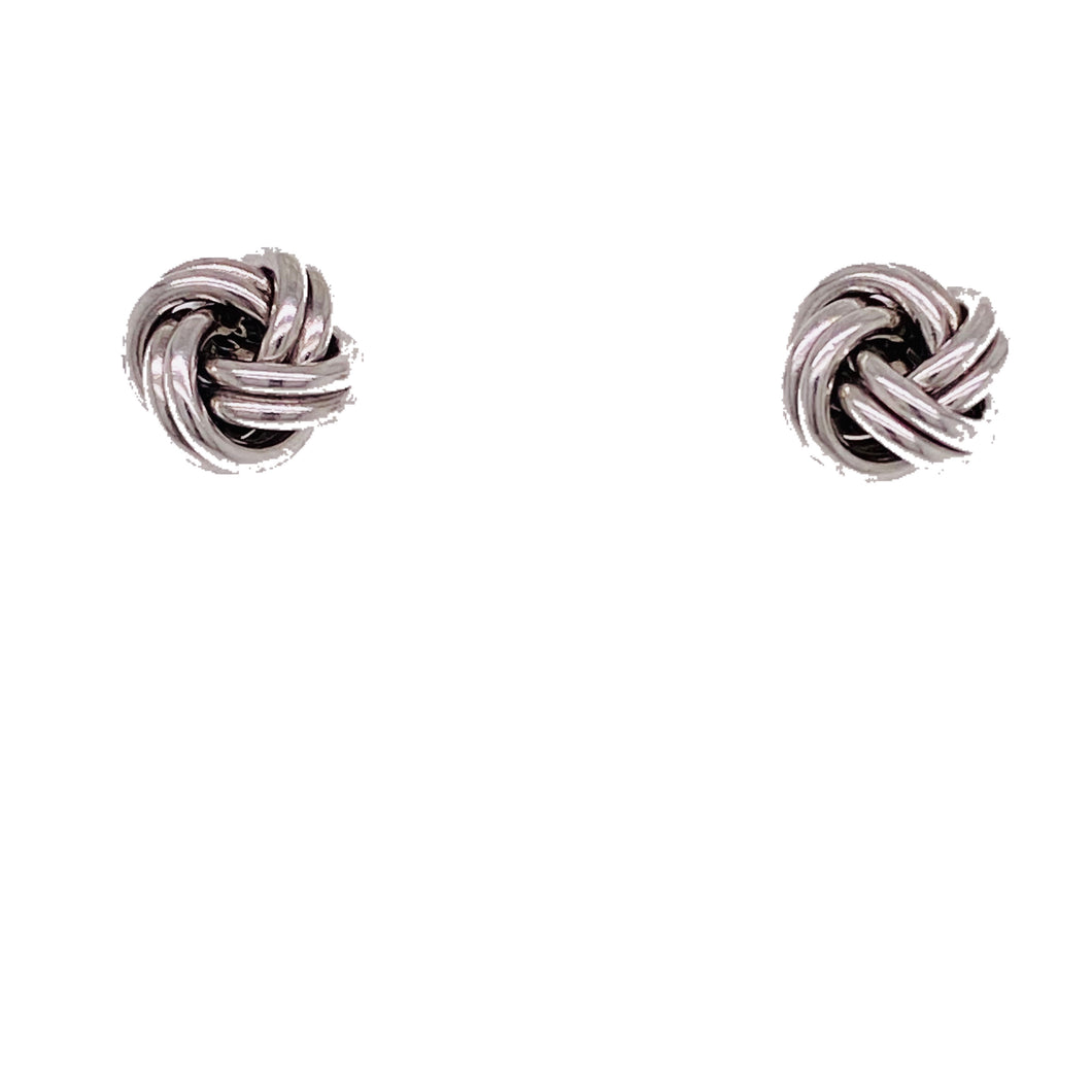 Sterling Silver Lover's Knot Earrings