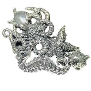Sterling Silver Aquatic Life Brooch