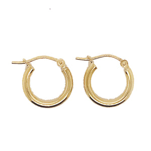 14K Yellow Gold Mini Hoops