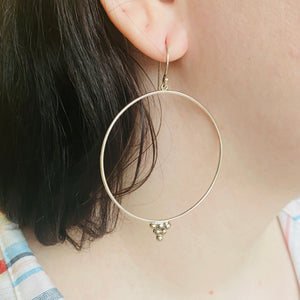 Sterling Silver Stylized Hoop Earrings