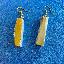 Vermeil Gold Druzy Quartz Dangle Earrings