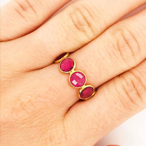 """Lady In Pink"" Pink Tourmaline Ring, 18 kt Yellow Gold Adjustable Gemstone Band"