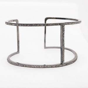 Diamond Modern Black Diamond Cuff Bracelet