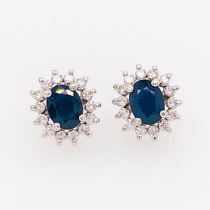 Sapphire and Diamond Earring Studs