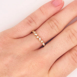 Diamond Baguette and Round Ring