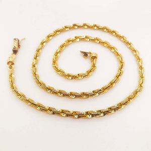 Grando Rope Chain, Custom Diamond Cut, 14 Karat Yellow Gold, 21.8 GM