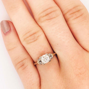 Old European Cut Diamond Estate Engagement Ring