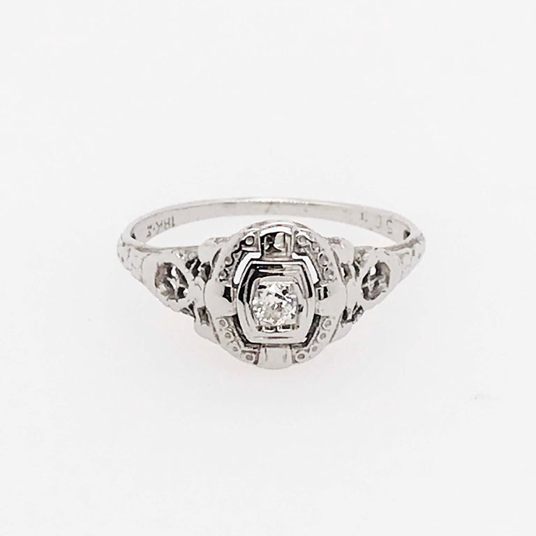 Vintage Diamond Estate Engagement Ring