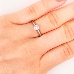 Round Brilliant Diamond Solitaire Ring White Gold