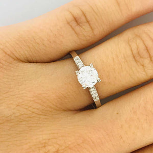 Tacori GIA Certified RBC .95 Carat tw Round Diamond 18 Karat White Gold Ring