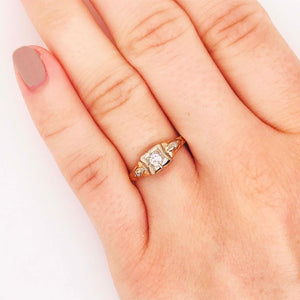 Diamond Estate Art Deco Engagement Ring