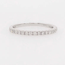 Half Diamond Band in 14K White Gold