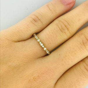 Tacori Diamond Eternity Band, Authentic Tacori 18 Karat Yellow Gold Diamond Band, Size 6.5