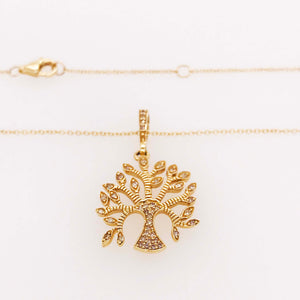 Diamond Tree of Life Pendant & Chain
