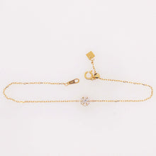 Diamond Flower Bracelet in 18K Yellow Gold