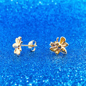 Gold Bee Earring Studs
